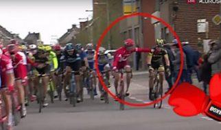 Vyacheslav Kuznetsov punches Direct Energie rider