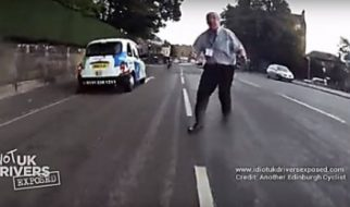 Taxi Road Rage, UK Taxi Driver Assaults Cyclist