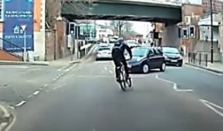 How Not To Ride a Bike - Cyclist Near Miss Caught On Dash Cam