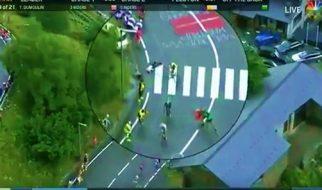 George Bennet KO's spectator at the Tour De France