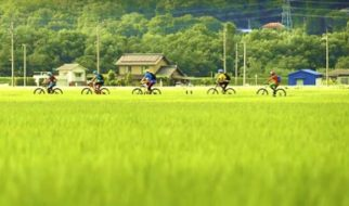 Riding hidden trails in the Japanese Alps.