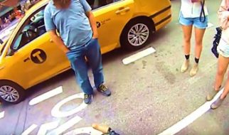 Biker Gets Doored By Taxi Riding In The Bike Lane