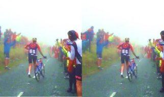 Bradley Wiggins Running Up The Struggle - Tour of Britain
