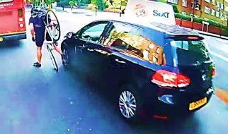 Cyclist vs a Mirror, an accident involving a cyclist and a car