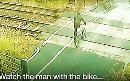Cyclist's near-miss with train released